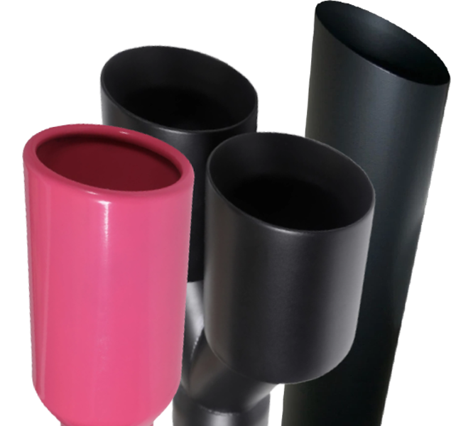 Powder Coating Exhaust Tips from Mach Speed
