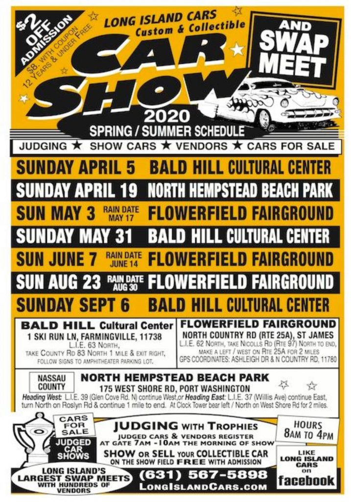 2020 Summer Car Show Schedule